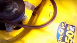 how to replace the deck drive belt on a cub cadet mower youtube