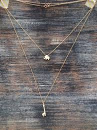 boho gold pendant necklace images Gold elephant necklace small charm necklace boho layering jpg