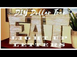 large light up letters diy dollar tree large light up letters 11 00 youtube