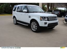 land rover lr4 white 2016 land rover lr4 hse lux in fuji white 793444 vannsuv com
