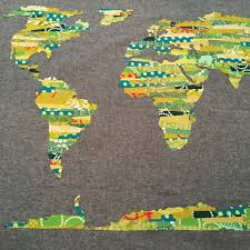 World Map Quilt Other Fun May Chappell