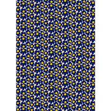mini unikko cotton white d blue yellow marimekko com