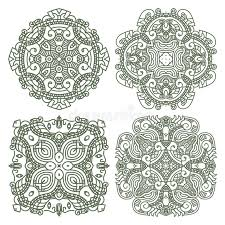 set aztec ornaments stock vector image of illustration 24402264