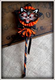 Black Cat Halloween Crafts 55 Best Vintage Halloween Cats Images On Pinterest Happy