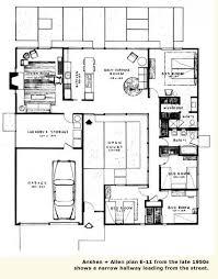 Modern Homes Floor Plans 26 Best Eichler Floor Plans Images On Pinterest Architecture