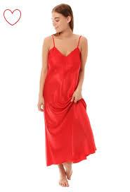 womens long satin nightdress nightie deep lace plus size sleepwear