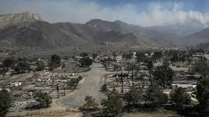 Wildfires In South West by Remains Found 150 Structures Destroyed In 57 Square Mile Kern
