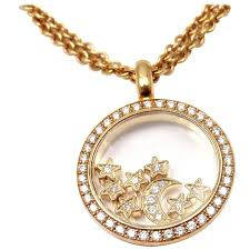 necklace moon gold images Chopard happy diamond stars moon gold pendant necklace at 1stdibs jpg