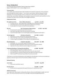 cv template for warehouse operative best resumes curiculum vitae