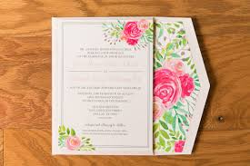 wedding invite return address feminine romantic pink and pale blue water color floral wedding