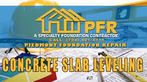 Leveling Uneven Concrete Patio by Concrete Slab Leveling Piedmont Foundation Repair Youtube