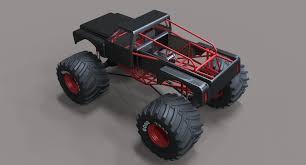 bigfoot monster truck toy monster truck bigfoot 3d model cgtrader