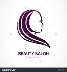 vector logo design template womans face silhouette abstract