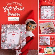 free printable diy christmas gift card holder