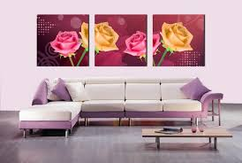 Canvas Without Frame Canvas Set Of 3 Floral Oil Paintings Canvas Print Without Frame