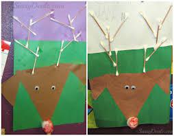 q tip reindeer art project for kids christmas idea craft