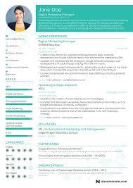 digital marketing resume digital resume resume templatele marketing staggering