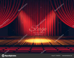 Premium Curtains Premium Curtains Stage Theater Or Opera Background With Spo