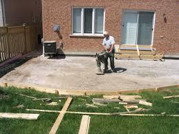 home design backyard concrete patio ideas mediterranean medium