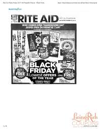 rite aid black friday ad hours deals living rich with coupons