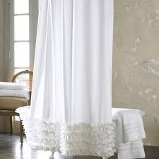 White Ruffle Curtains Ruffled Shower Curtain White Ruffle Curtains Donslandscaping