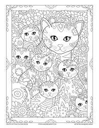 mom kitties creative kittens coloring book marjorie