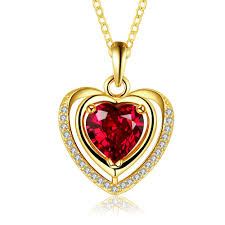 rose zircon necklace images Necklaces women korean heart gold plated rose gold plated platinum jpeg