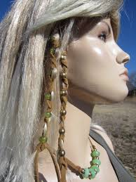 Hair Extensions Using Beads by 2 Leather Hair Wraps Hair Tie Braid Ponytail Holders Bead Hair