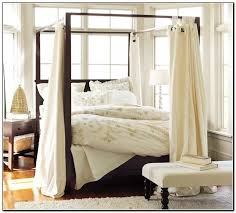 Bed Frame With Canopy Smartness Inspiration Bed Frame With Curtains For Canopy Gnscl