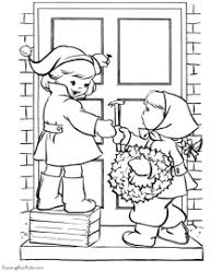 wreaths flowers christmas coloring pages