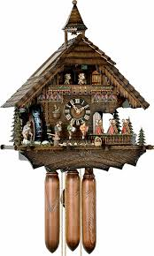 cuckoo clock 8 day movement chalet style 50cm by hönes 86200t