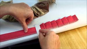 pleated ribbon how to make a knife pleat ruffle
