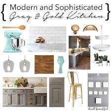 Kitchen Design Boards Modern Gray And Gold Kitchen Mood Board Dwell Beautiful