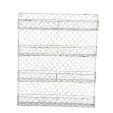 vintage kitchen wall cabinet white home traditions 4 tier vintage white metal chicken wire spice rack organizer for kitchen wall pantry or cabinet antique white walmart