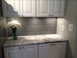 kitchen gray backsplash subway tiles high gloss white kitchen