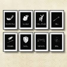 set of 8 harry potter spells print harry potter wall art