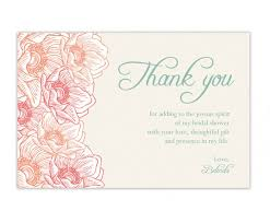 bridal shower thank you cards bridal shower thank you wording for gift cards image bathroom 2017