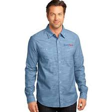 custom embroidered button down shirts for men no minimum