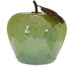 collectibles decorative accents for the home qvc com mosaic glass fruit luminary by home reflections h208052
