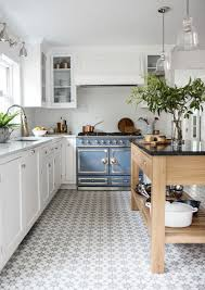 white kitchen cabinets tile floor blue and white kitchen decor inspiration 40 ideas hello
