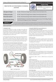 prototype of four wheel steering system