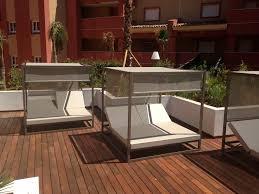 contemporary sun lounger fabric aluminum garden bali