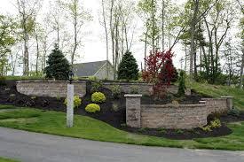 new hampshire landscaping front yard stone retaining walls