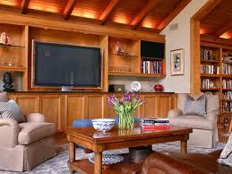 Living Room Lighting Designs HGTV - Wood living room design