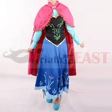 Princess Anna Halloween Costume Aliexpress Buy Princess Anna Costume Women Anna Dress