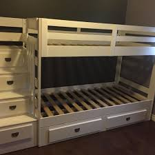 Find More Malibu Staircase Twin Bunk Beds With Extra Trundle - The brick bunk beds