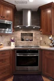 Kitchen Backsplash Ideas With Cherry Cabinets New Kitchen Kitchen - Backsplash for cherry cabinets