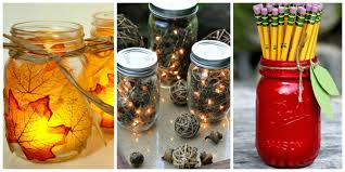 honey bee decorations for your home 30 mason jar fall crafts autumn diy ideas with mason jars