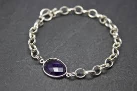 stone silver bracelet images Bracelet with semi precious stone set in silver sally napier jpg