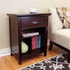 Espresso Side Table Acme Furniture Wasaki Espresso Storage Side Table 81955 The Home